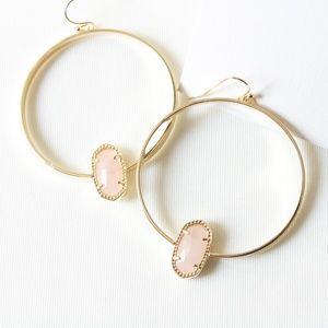 Kendra Scott Elora Hoop Earrings In Rose Quartz